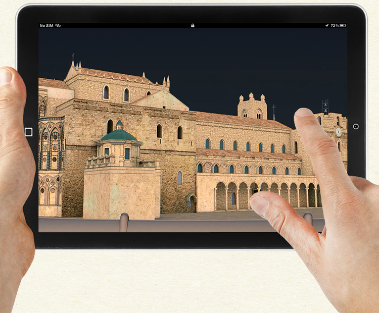 Virtual model on device's screen